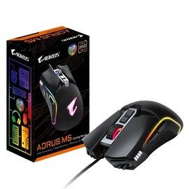 Gigabyte Aorus M5 USB RGB Fusion 2.0 LED Matte Black Programmable Gaming Mouse