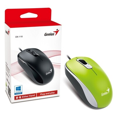Genius DX-110 USB Green Mouse