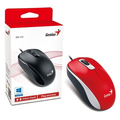 Genius DX-110 USB Red Mouse