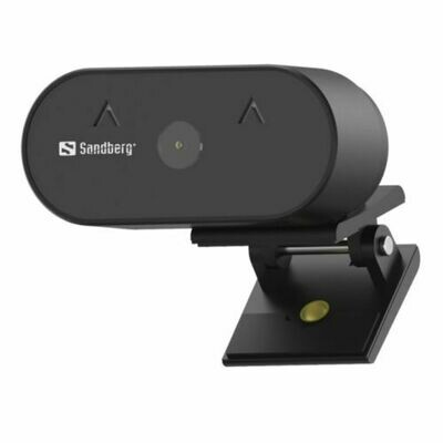Sandberg USB FHD Wide Angle Webcam with Mic, 2MP, 30fps, Glass Lens, Auto Adjusting, 120° Viewing Angle, 5 Year Warranty