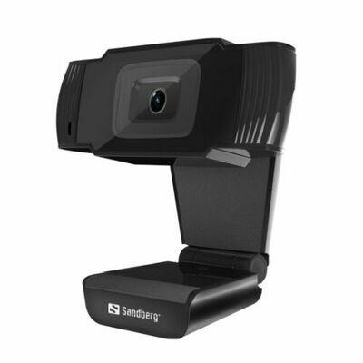 Sandberg USB Webcam, 480p, Mic, Auto Light Correction, 30° Rotatable, 5 Year Warranty
