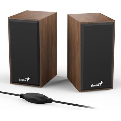Genius SP-HF180 Wooden Stereo Speakers