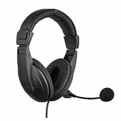 Sandberg USB Headset with Boom Mic, 40mm Drivers,  In-Line Volume Controls, 5 Year Warranty