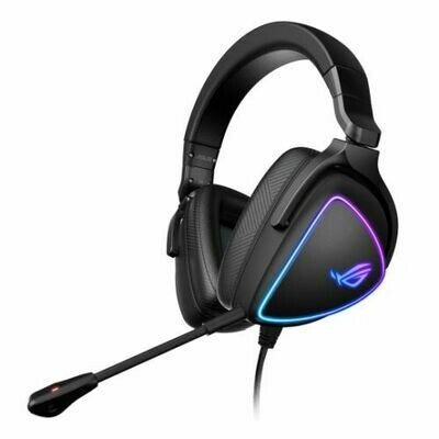 Asus ROG DELTA S RGB Lightweight Gaming Headset, USB-C (USB2 Adapter), Hi-Fi ESS Quad-DAC, Boom Mic, Aura Sync