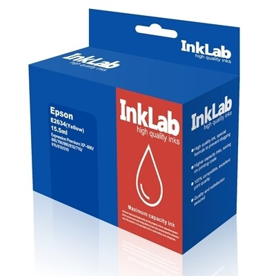 InkLab 2634 Epson Compatible Yellow Replacement Ink