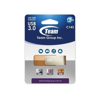 Team Color Series C143 64GB USB 3.0 Brown USB Flash Drive