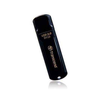 Transcend JetFlash 64GB USB 3.0 Black USB Flash Drive