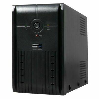 Powercool 1000VA Smart UPS, 600W, LED Display, 3 x UK Plug, 2 x RJ45, 3 x IEC, USB