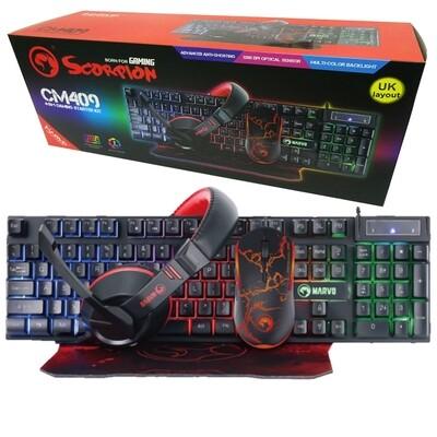Marvo Scorpion CM409 4-in-1 Gaming Starter Kit