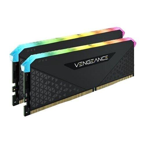 Corsair Vengeance RGB RT 32GB Memory Kit (2 x 16GB), DDR4, 3600MHz (PC4-28800), CL18, XMP 2.010 LEDs, AMD Optimised, Black