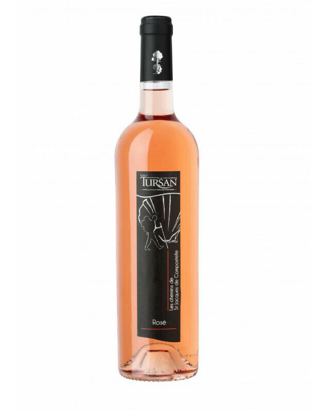 Vin Tursan rosé -  Etiquette Chemins de Compostelle 75 cl