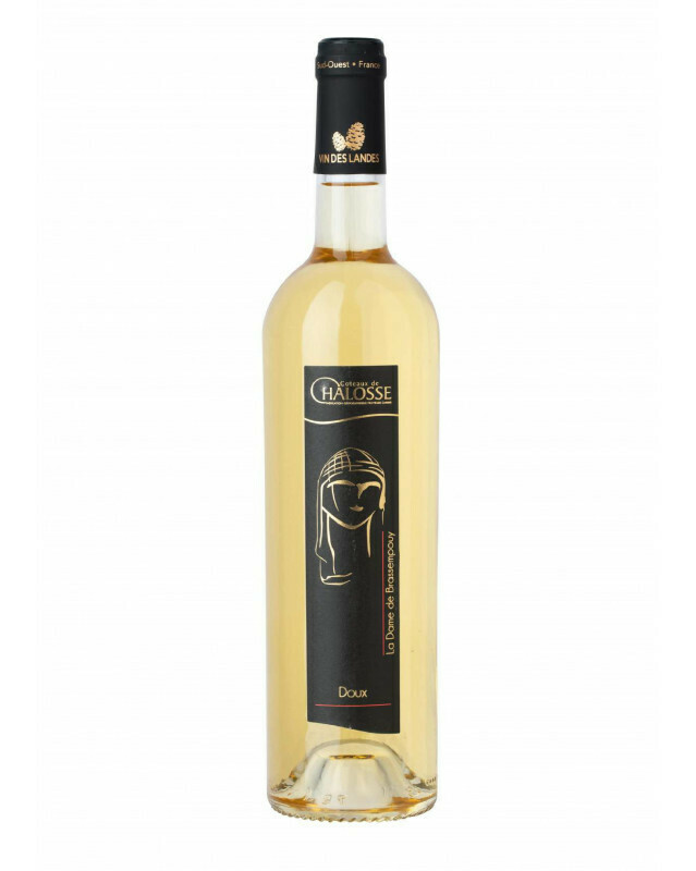 Vin Tursan Blanc moelleux  - Etiquette Dame de Brassempouy