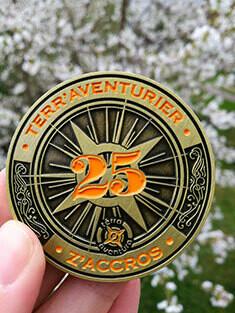 """Médaille """" J'aime Terra Aventura"""" collector 25"""