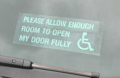 Please Allow Enough Room To Fully Open My Door Car Sticker