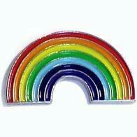 Rainbow Enamel Pin Badge