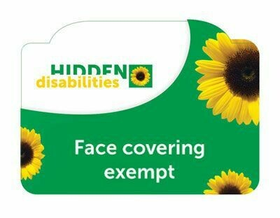 FACE MASK EXEMPT CARD FOR SUNFLOWER LANYARD