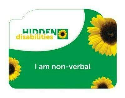 I AM NON VERBAL CARD FOR SUNFLOWER LANYARD