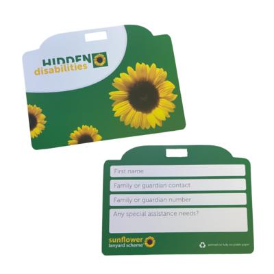 ID CARD FOR SUNFLOWER LANYARD