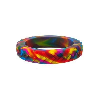 Rainbow Tread Bangle (Small)