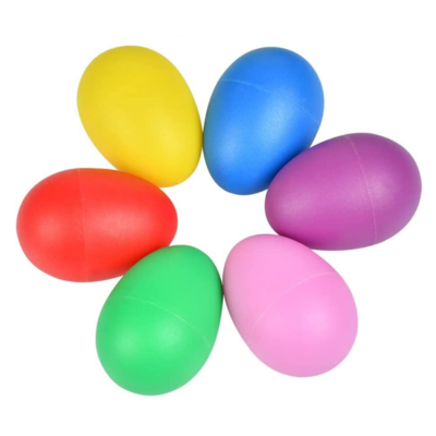 6 Rainbow Egg Shakers