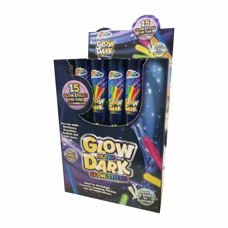 Grafix™ Glow Stick Bracelets with Connectors (Pack of 15)