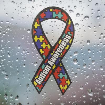 Autism Awareness Ribbon Car Sticker