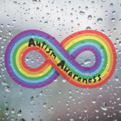 Autism Awareness Rainbow Infinity Symbol Car Sticker