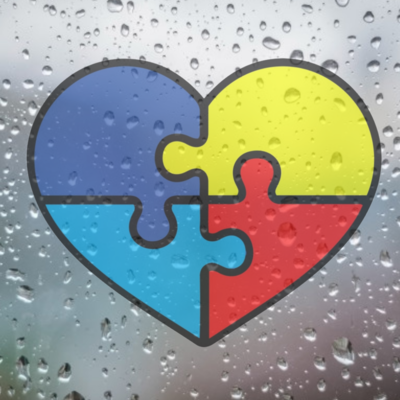 Autism Awareness Puzzle Piece Heart Car Sticker
