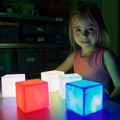 Colour Changing Mood Light Cubes (Pack of 4)