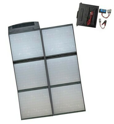 160W Folding Solar Blanket with Solar Regulator and Anderson Connectors AU STOCK