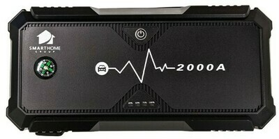 2000A Lithium Car Truck Jump Starter with USB-C Fast Charge Starts a 10L petrol or 8L diesel engine AU STOCK