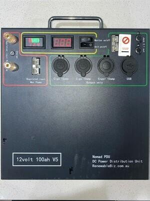Nomad V5 100ah Lithium Power Distribution Unit