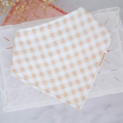 Checkered Bibdana in beige