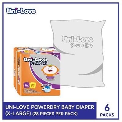 Uni-Love Powerdry Baby Diaper 28's (X-Large) - 6 PACKS