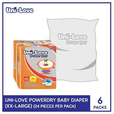 Uni-Love Powerdry Baby Diaper 24's (XX-Large) - 6 PACKS