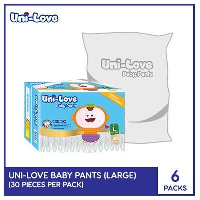 Uni-Love Baby Pants 30's (Large) - 6 PACKS