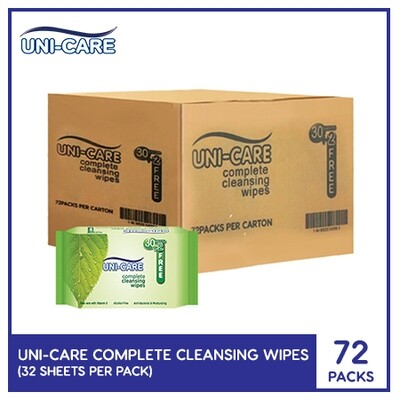 Uni-Care Complete Cleansing Wipes 32's (1 Case)