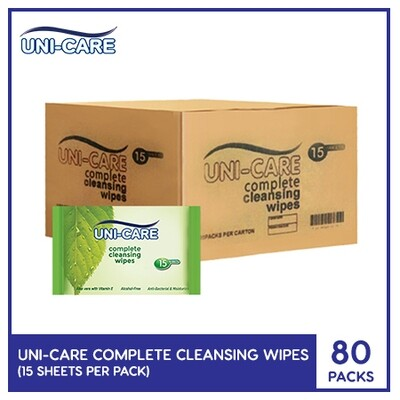 Uni-Care Complete Cleansing Wipes 15's (1 Case)