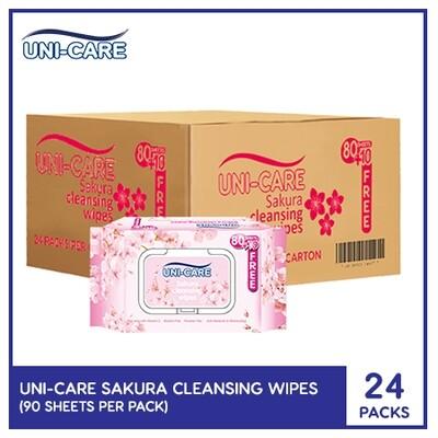 Uni-Care Sakura Cleansing Wipes 90's (1 Case)