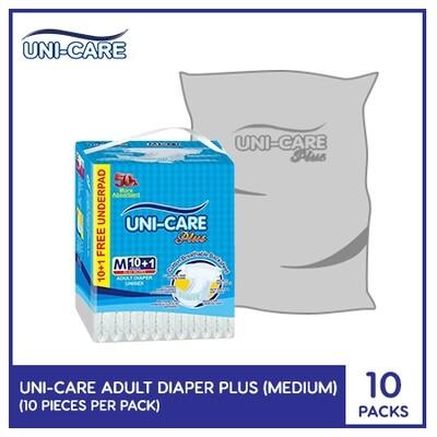 Uni-Care Adult Diaper Plus 10's (Medium) - 10 PACKS