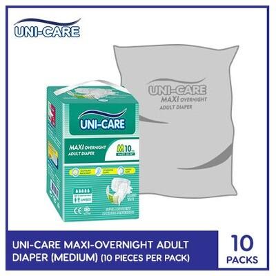 Uni-Care Maxi Overnight Adult Diaper 10's (Medium) - 10 PACKS