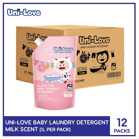 Uni-Love Baby Laundry Detergent (Milk Scent) 1L (1 Case)