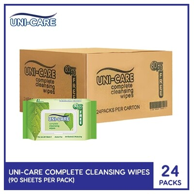 Uni-Care Complete Cleansing Wipes 90's (1 Case)