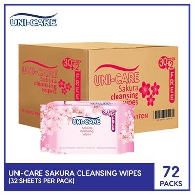 Uni-Care Sakura Cleansing Wipes 32's (1 Case)
