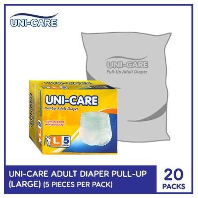 Uni-Care Adult Diaper Pull-Ups 5's (Large) - 20 PACKS