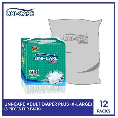 Uni-Care Adult Diaper Plus 8's (X-Large) - 12 PACKS
