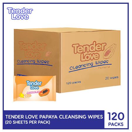 Tender Love Papaya Cleansing Wipes 20's (1 Case)