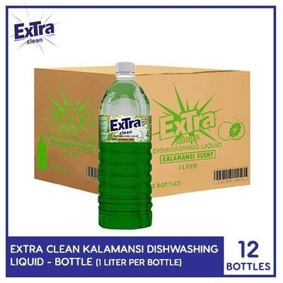 Extra Clean Kalamansi Scent Dishwashing Liquid 1L (Bottle) (1 Case)