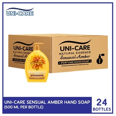Uni-Care Sensual Amber Perfume Hand Soap 500ml (1 Case)
