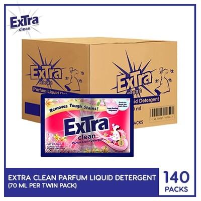 Extra Clean Parfum Liquid Detergent 70ml (Twin Pack) (140 PACKS)